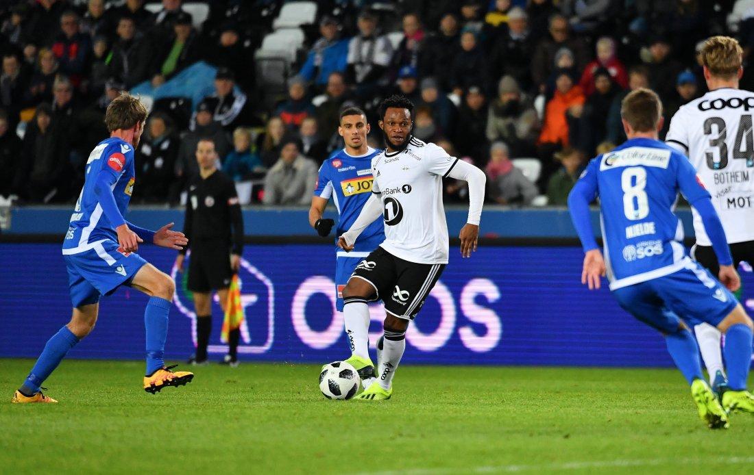 Samuel Adegbenro var endelig tilbake. Han satte et preg på kampen, men fikk ikke scoringen.