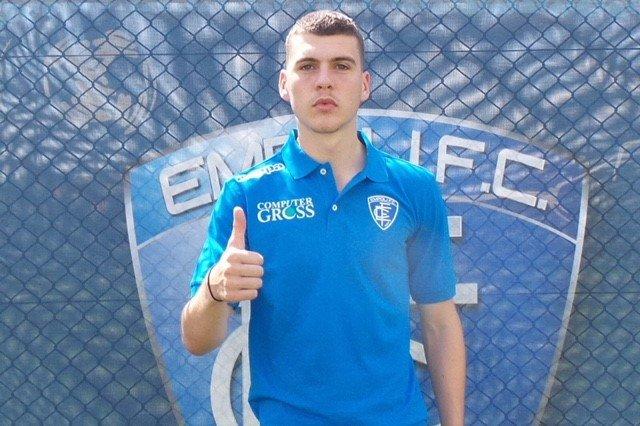 Jacob Rasmussen signerte for Empoli torsdag formiddag.