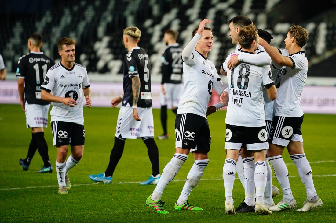 MÅLFEST: Rosenborg med fire scoringer og seier mot Odd. Foto: Ole Martin Wold / NTB