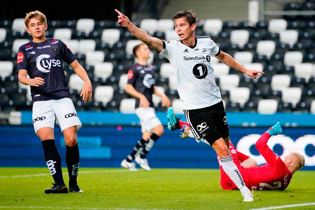 Torgeir Børven satte inn 3-0 på et utsøkt innlegg fra Reitan. Foto: Ole Martin Wold / NTB scanpix
